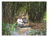 satu dari 3 bangku duduk di Kebun/ hutan mini